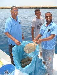 Nettoyage de la mer